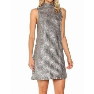 Kensie • Shimmer Ribbed Knit Shirt Dress Sz S